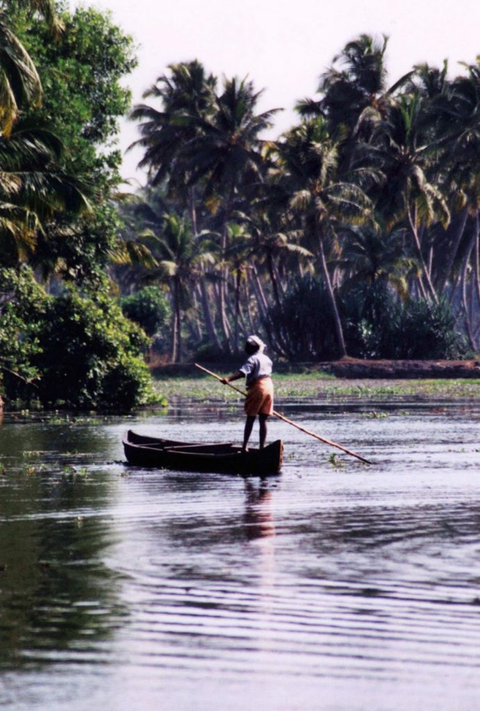 Kollam Boatman, Kerela, India