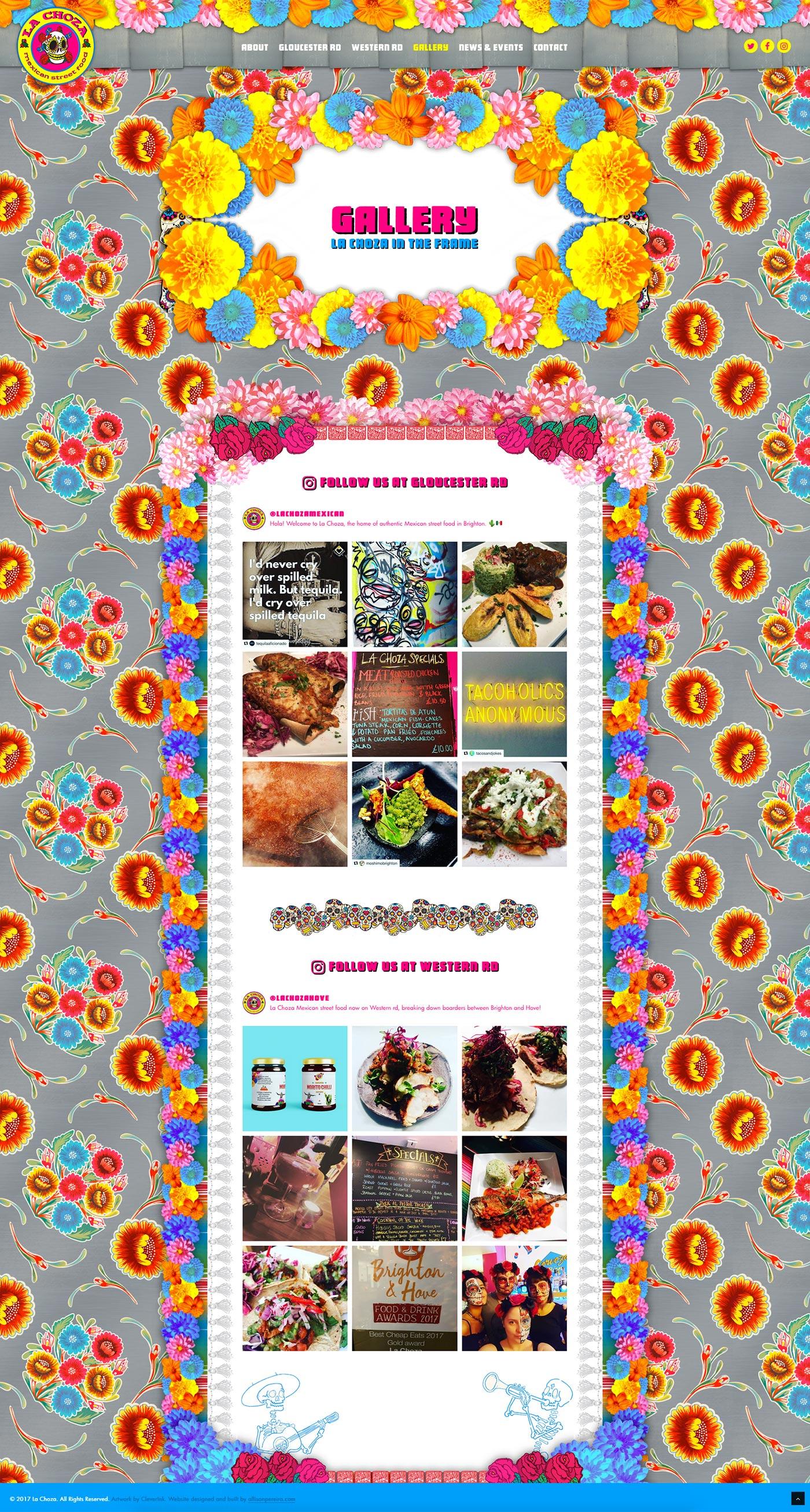 La Choza Mexican street food project work web page