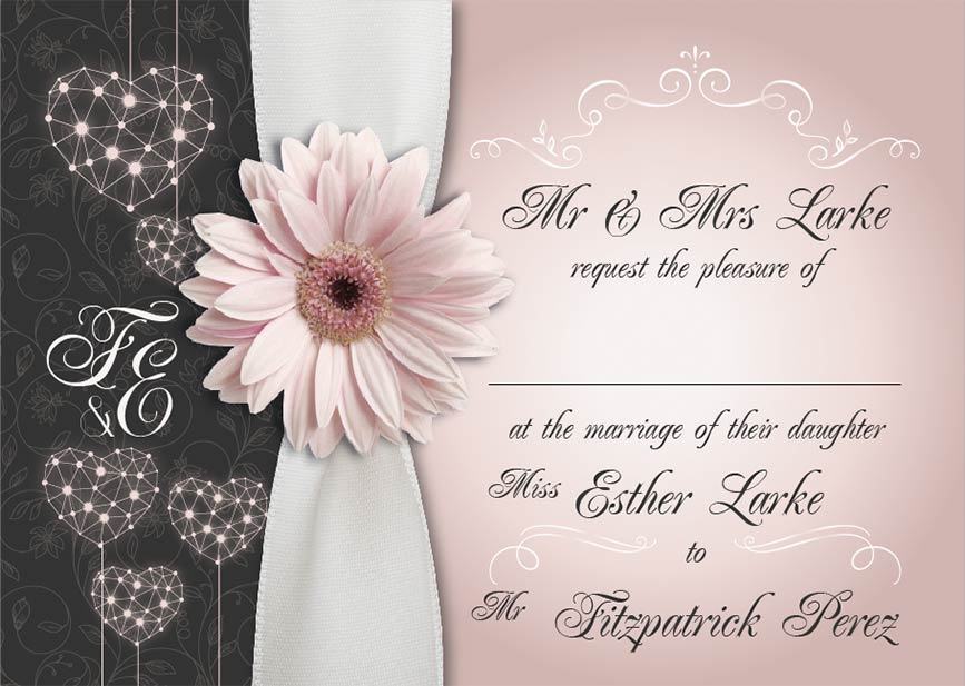 Bride & Groom wedding stationery project work
