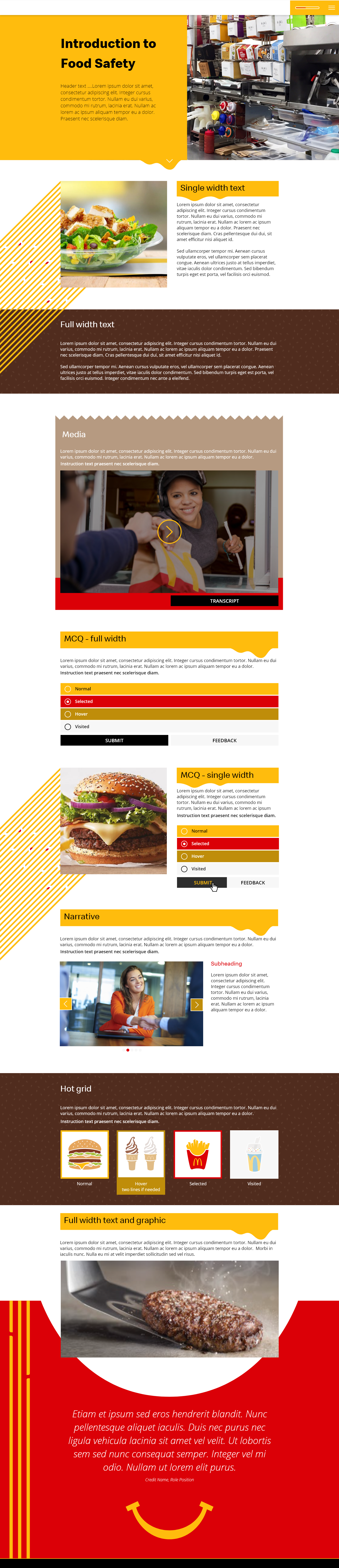 McDonalds elearning project page