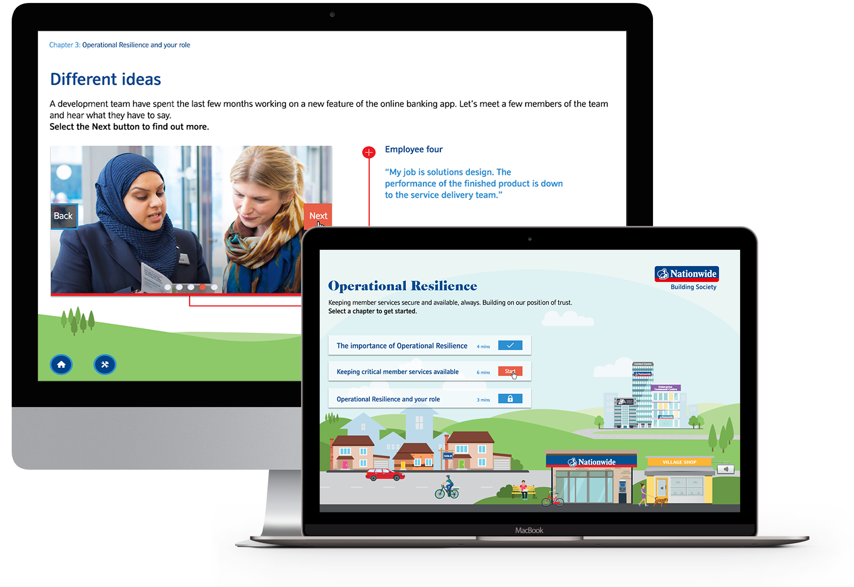 Nationwide Building Society elearning project devices