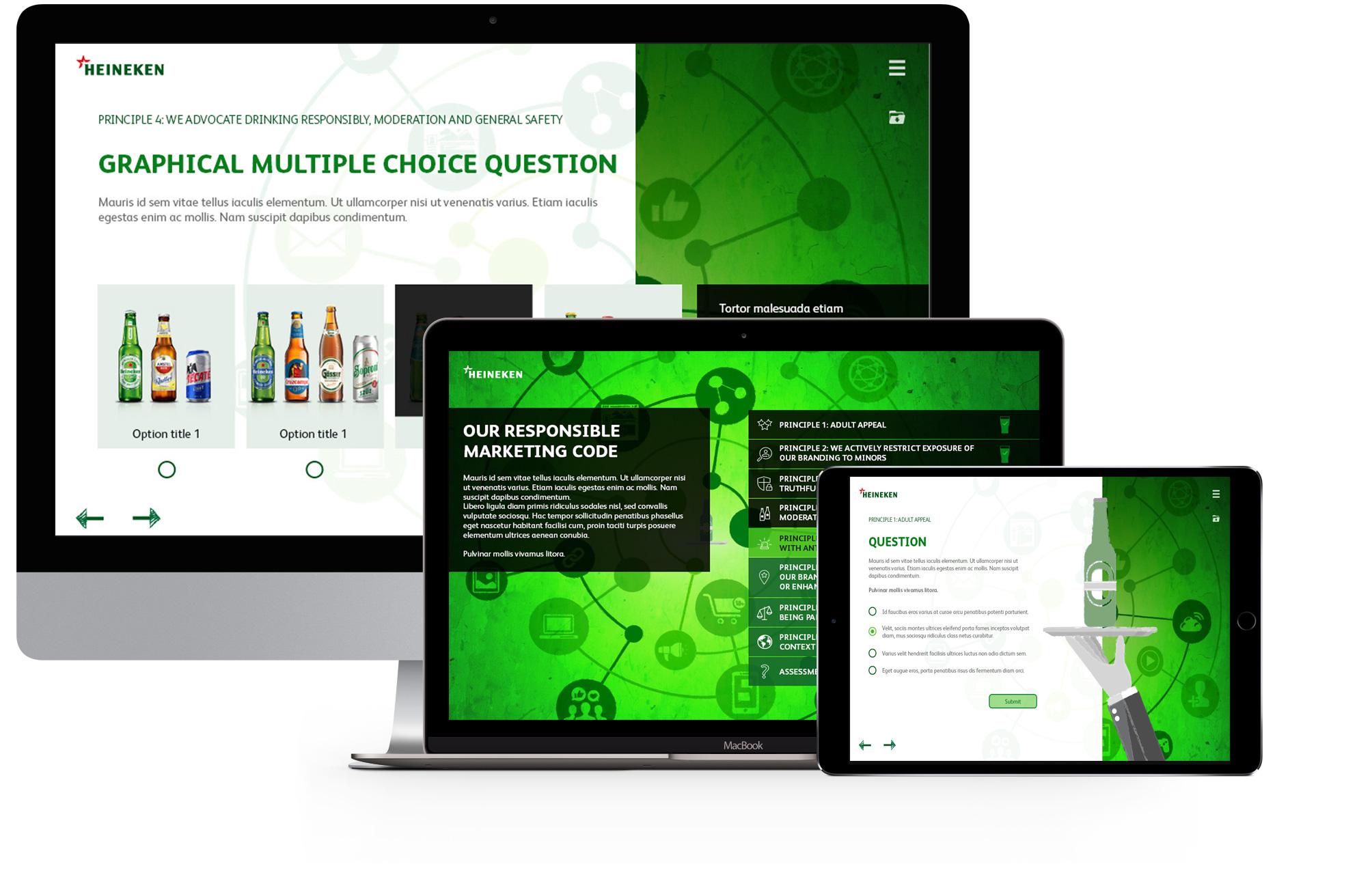 Heineken elearning project devices