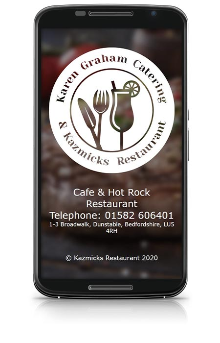 Karen Graham Catering & Kazmicks Restaurant project work device