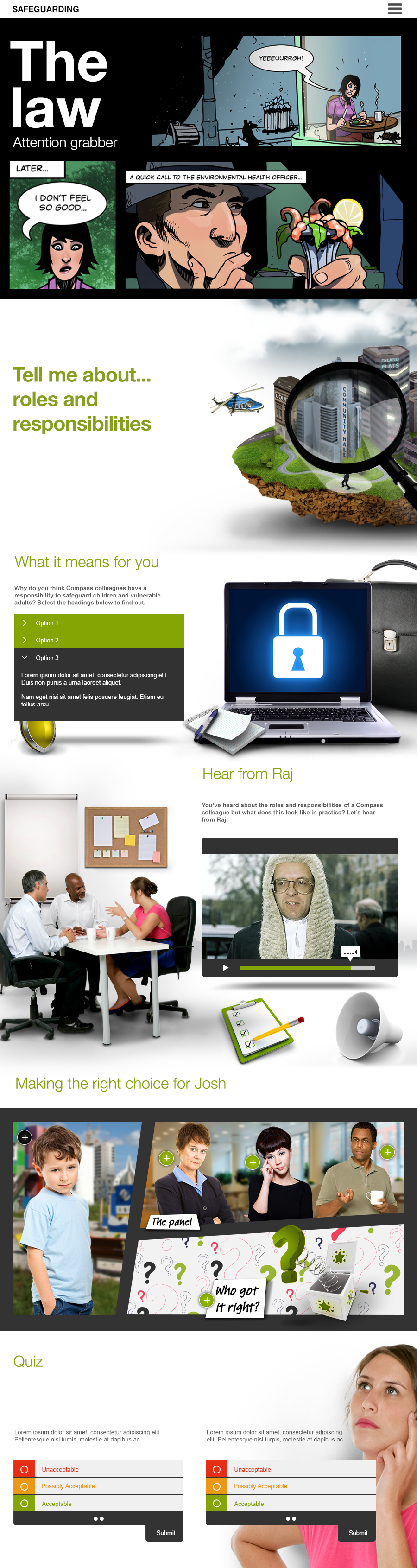 Compass Group elearning project page