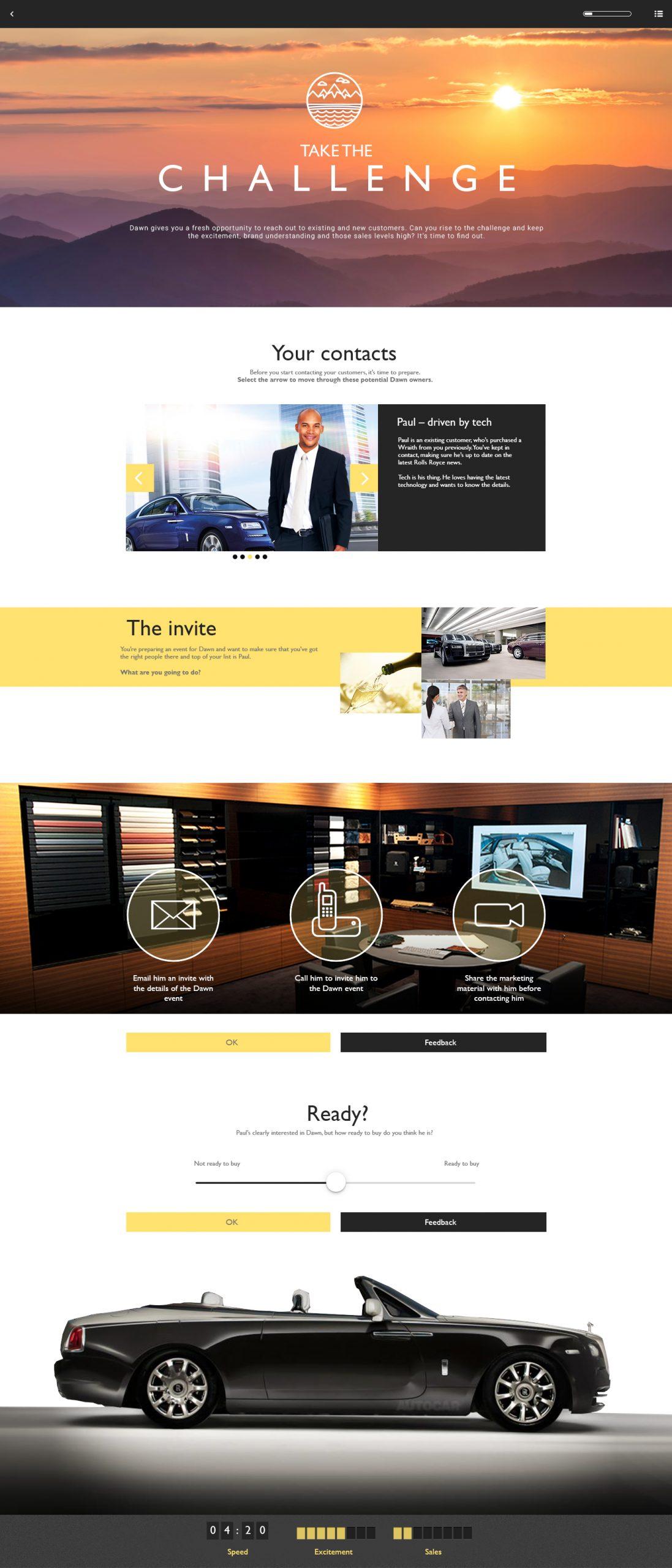 Rolls Royce elearning project page
