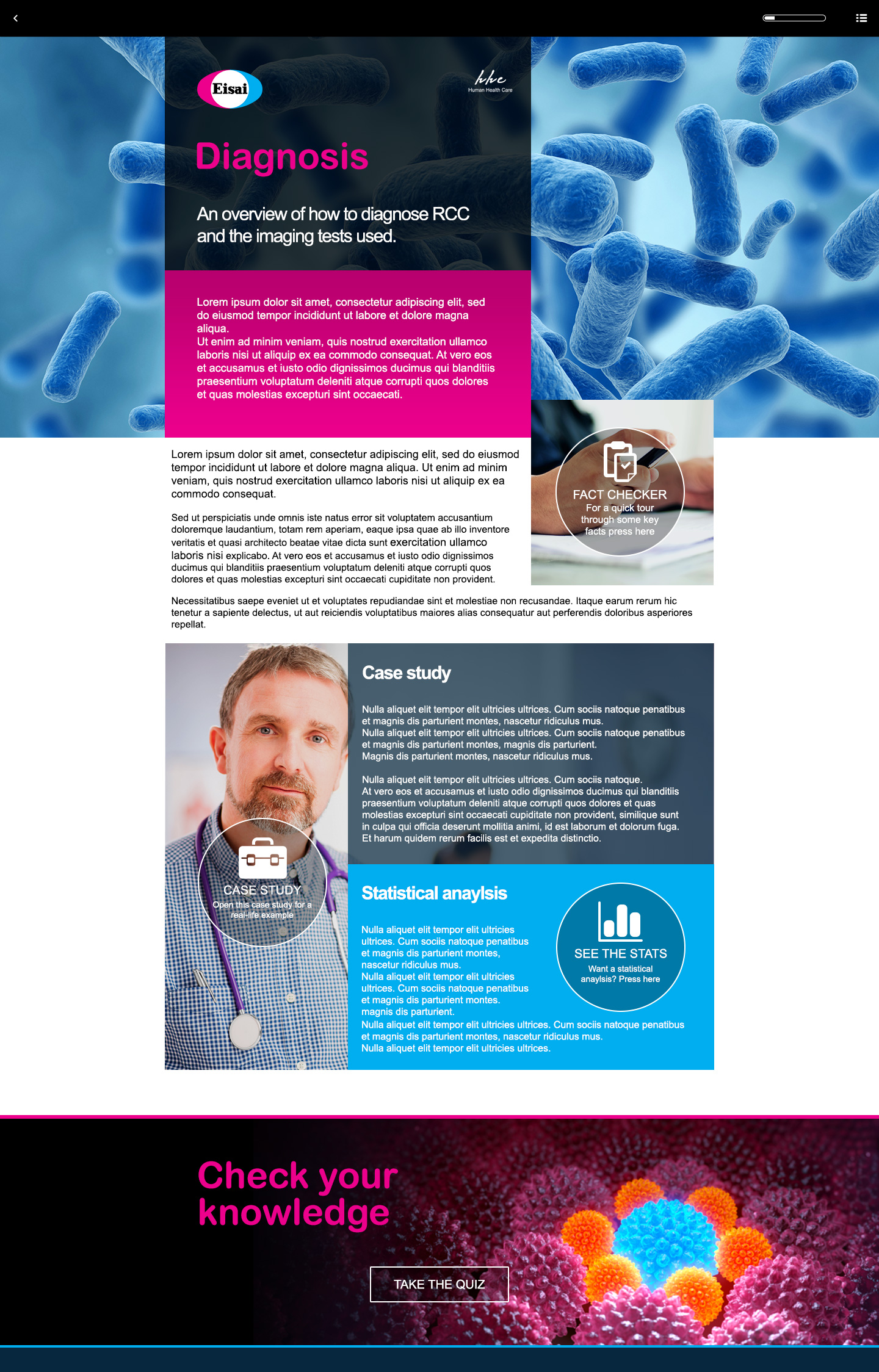 Eisai elearning project page