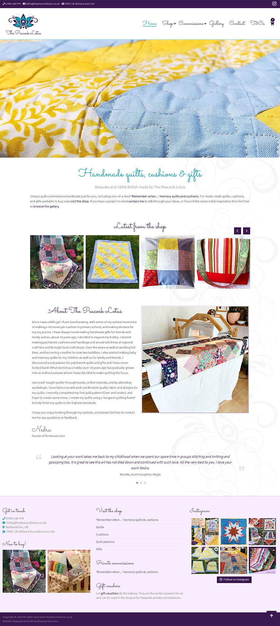 The Peacock Lotus project work web page