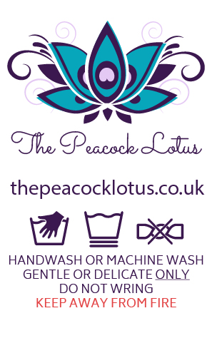 The Peacock Lotus project print work product care label